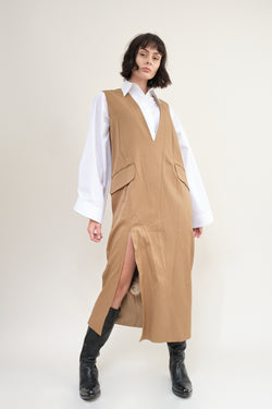 MM6 Maison Margiela twill wool dress