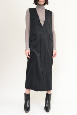 black twill wool dress MM6 Maison Margiela