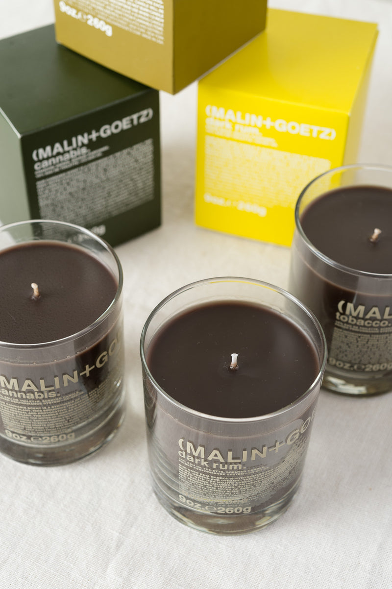 malin + goetz dark rum candle fragrance