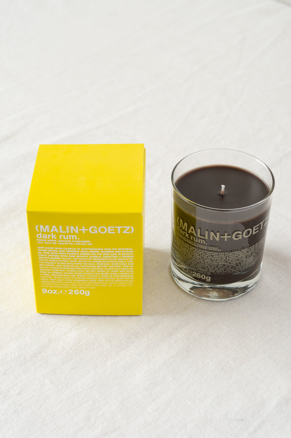 malin + goetz dark rum candle home sale