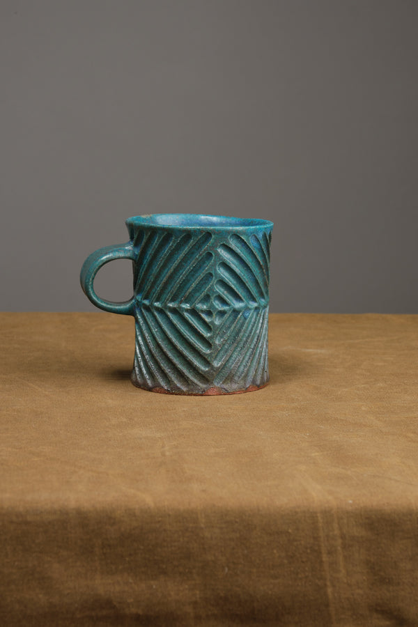 Diamond Mug in Turquoise