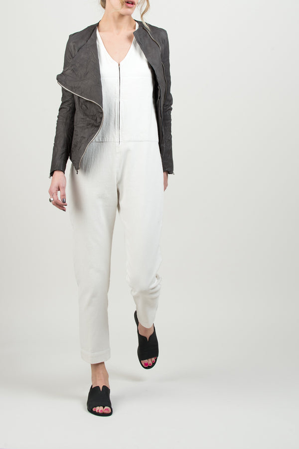 Sisii drape riders jacket In charcoal grey
