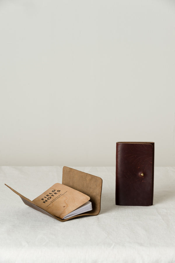 leather field notebook cover