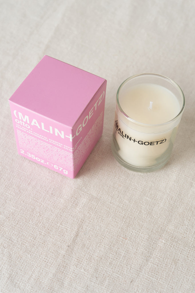 malin + goetz otto votive candle home fragrance scents