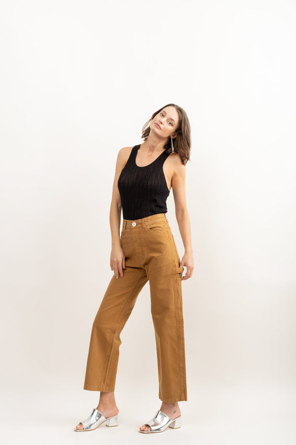 Jesse Kamm Handy Pant In Tobacco