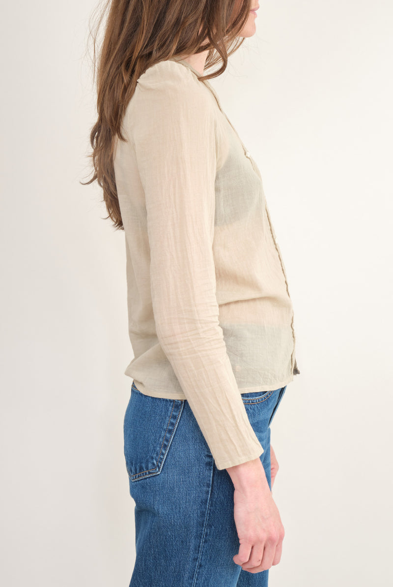 Elsa Esturgie V Neck  Button Down Cardigan