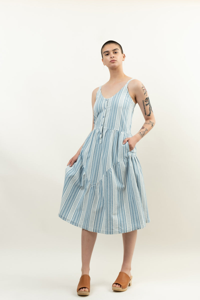 Lacausa Indigo Striped Blue Moon Dress