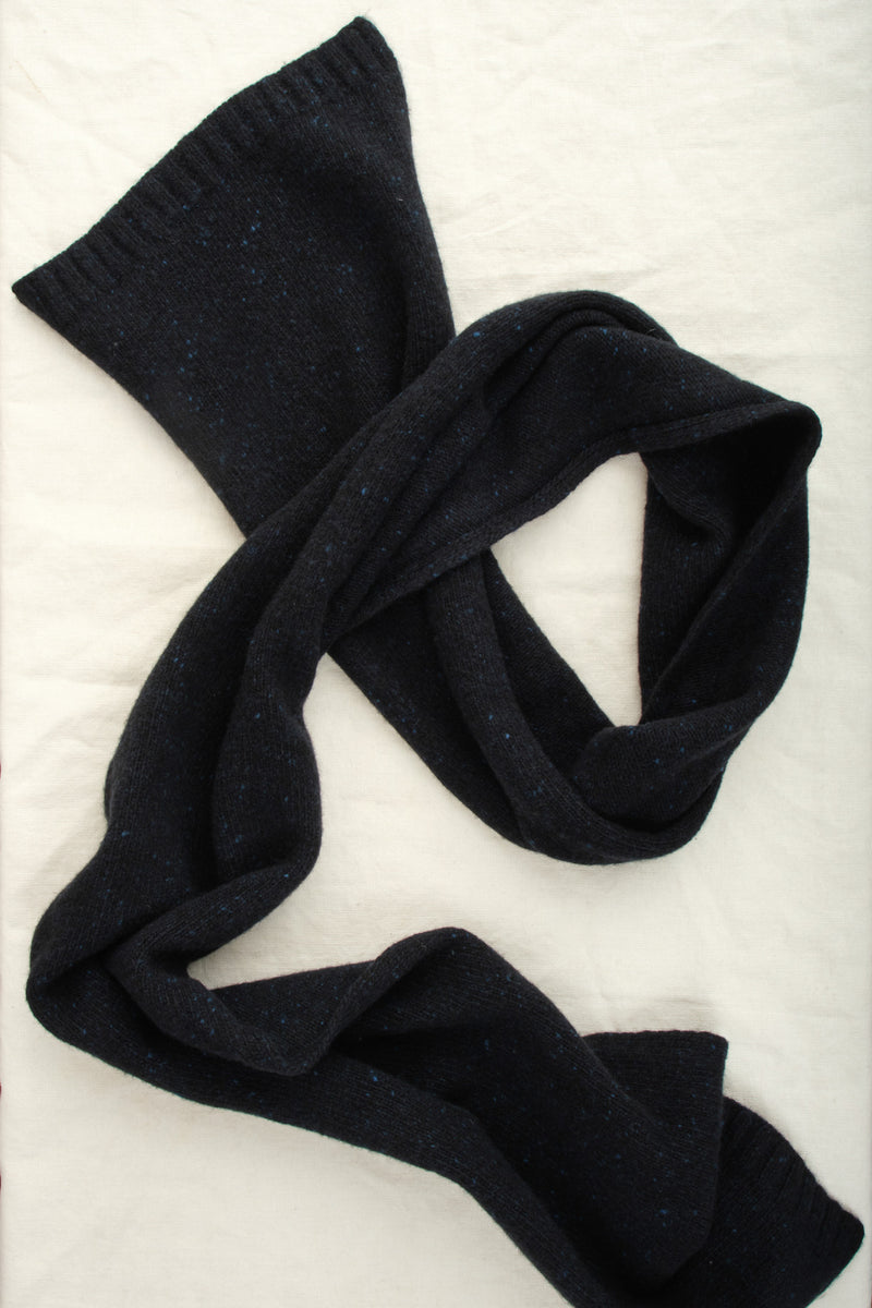 A Kind of Guise Risoni Scarf Navy Melange