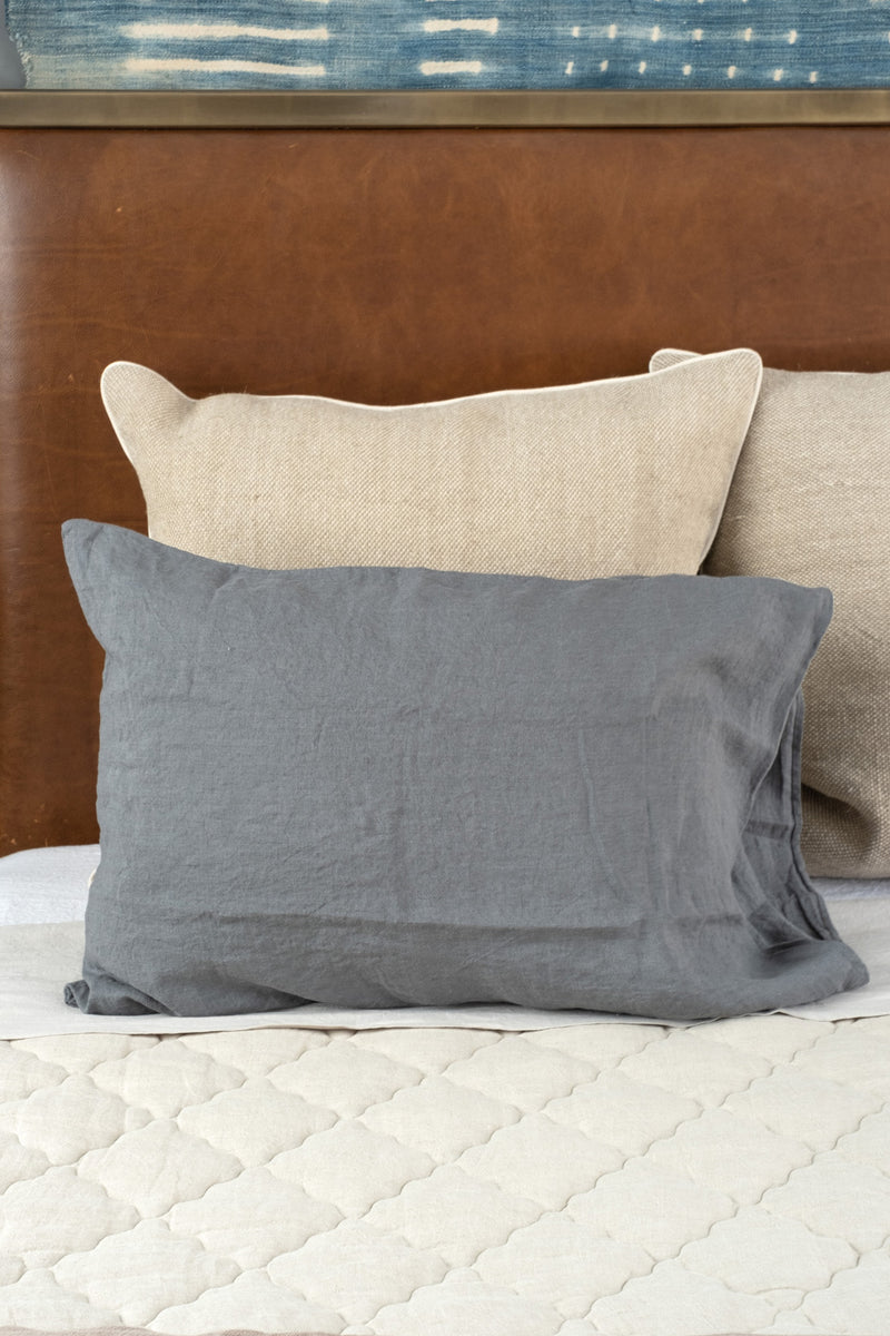 Dark Grey Pillowcase