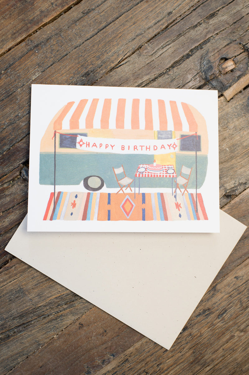 Small Adventure Camper Trailer Card