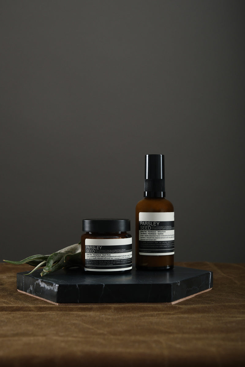 Aesop parsley seed skincare