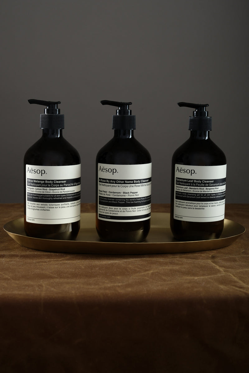 Aesop body cleansers
