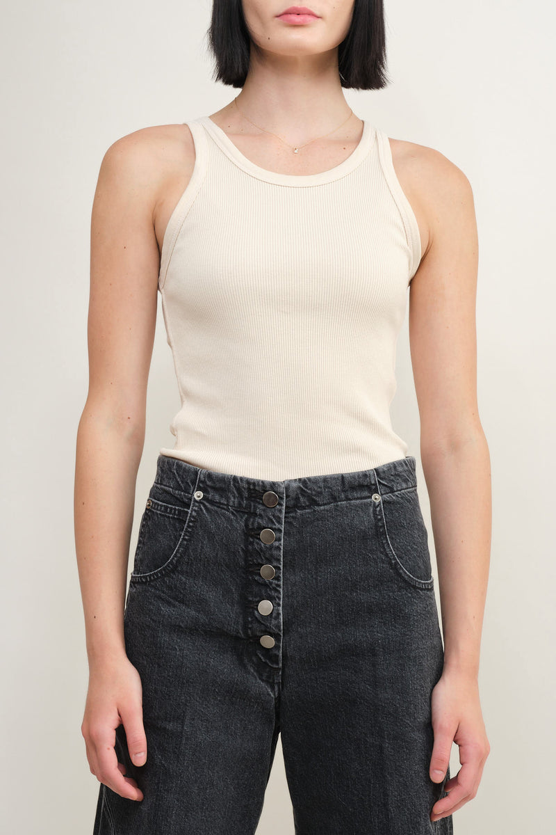 bare long rib tank Amo Denim