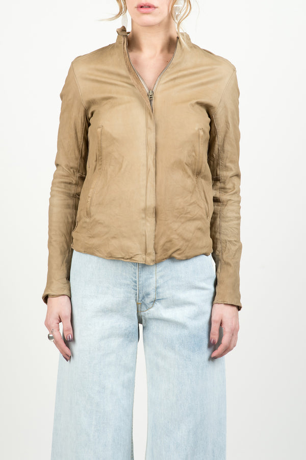 Sisii single rider jacket in dark beige