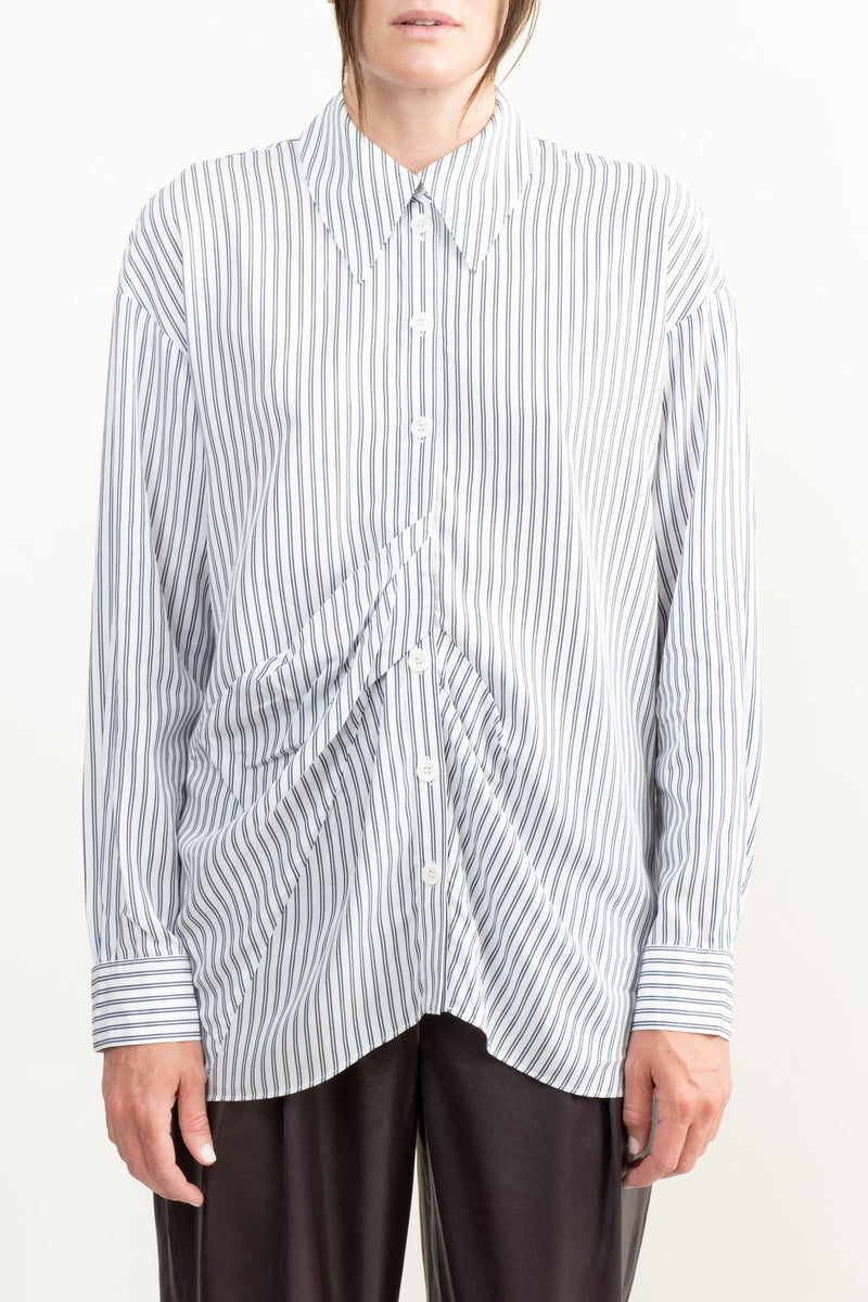 Women's Striped Button Up