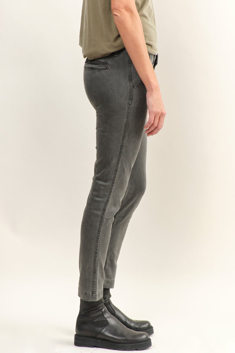 NSF Clothing Wallace Skinny Leg Trousers In Pigment Black