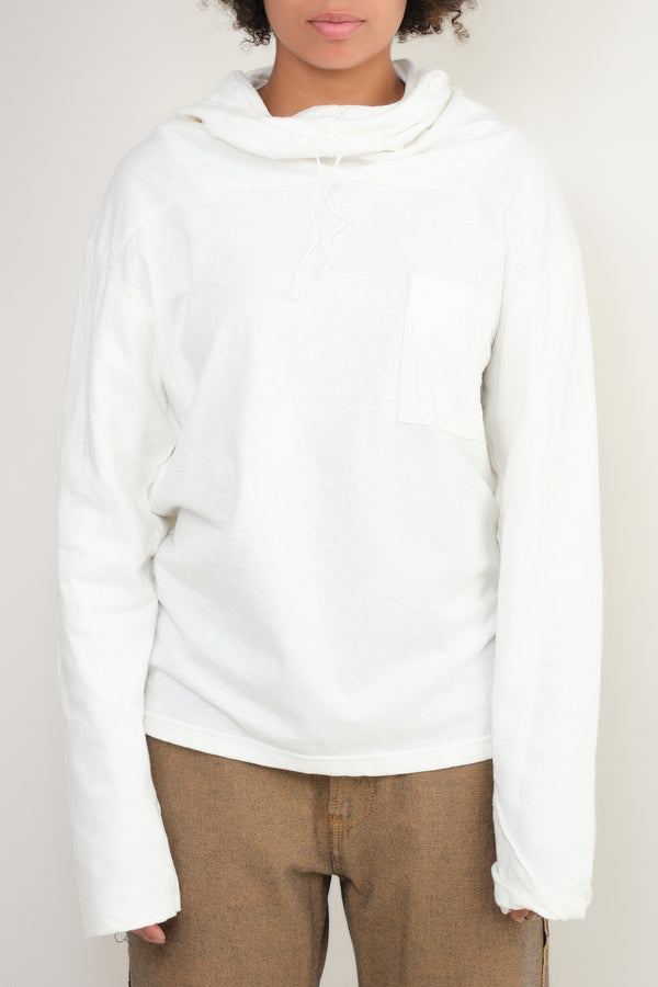 kapital Jersey x Gauze Jersey ESKIMO Hooded Tee in White