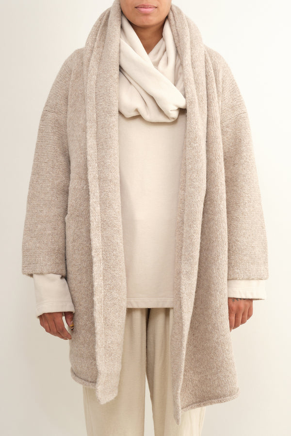 oatmeal capote coat Lauren Manoogian