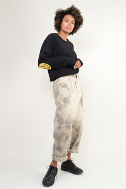KATSURAGI High Waisted NIME Pants (Ashbury Dyed) kapital