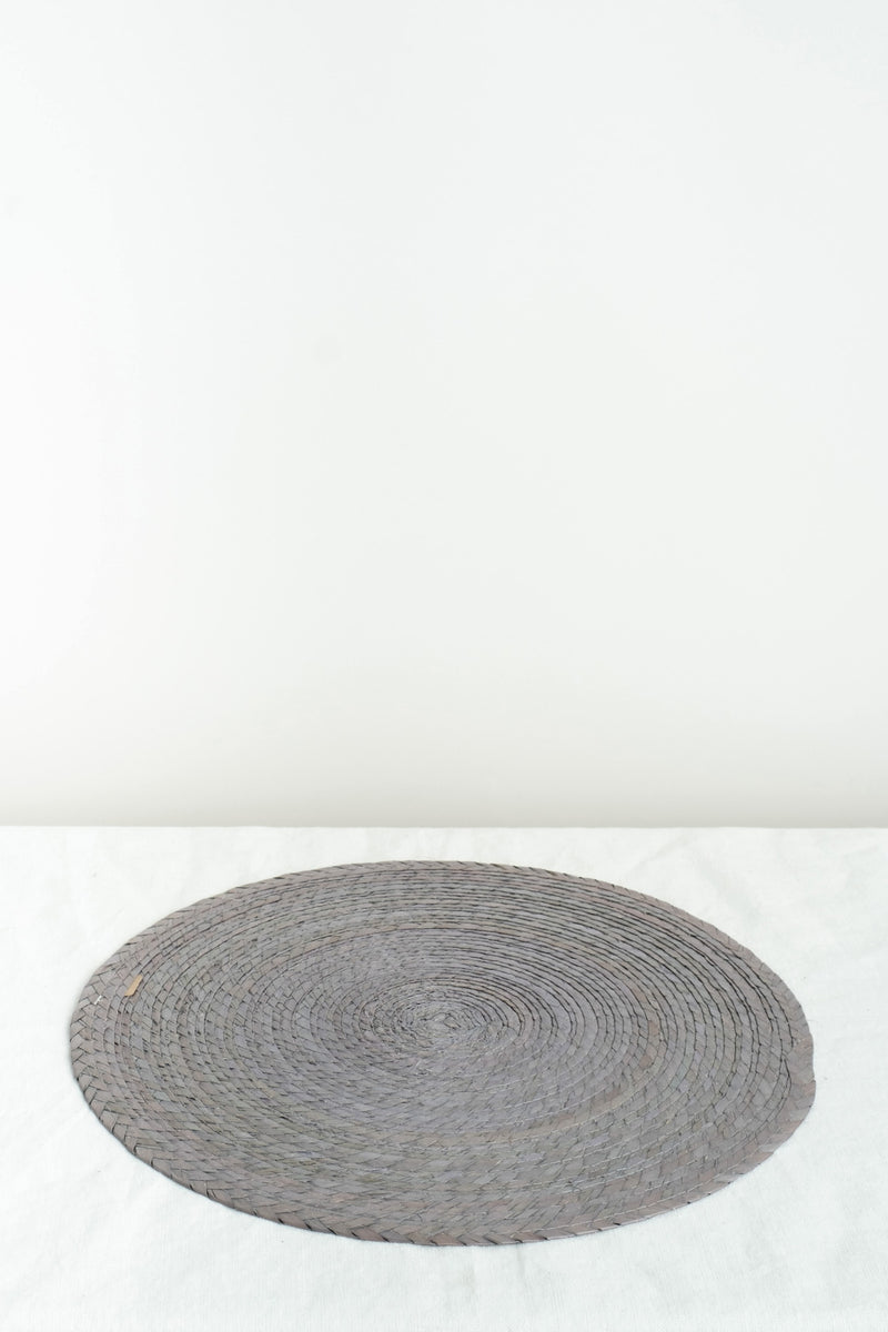 Makaua Round Placemat In Acero