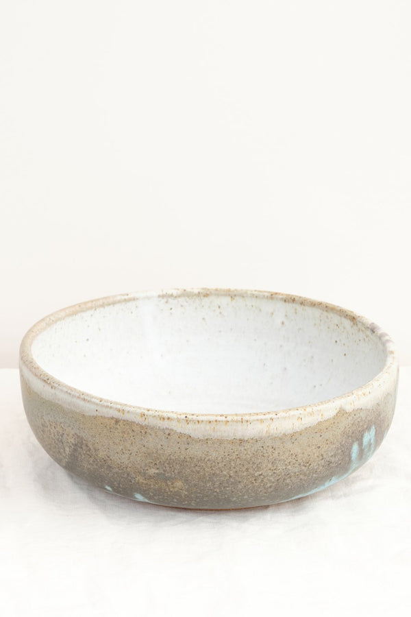 "Paige Stewart 12"" Shallow Serving Bowl Eggshell"