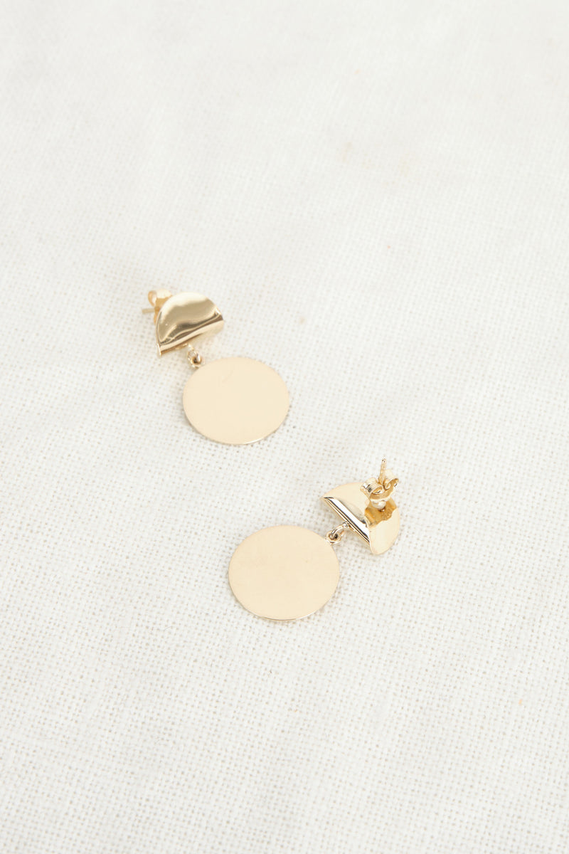 Carrie Hoffman Tacos Con Tortilla Earrings 14K Yellow Gold