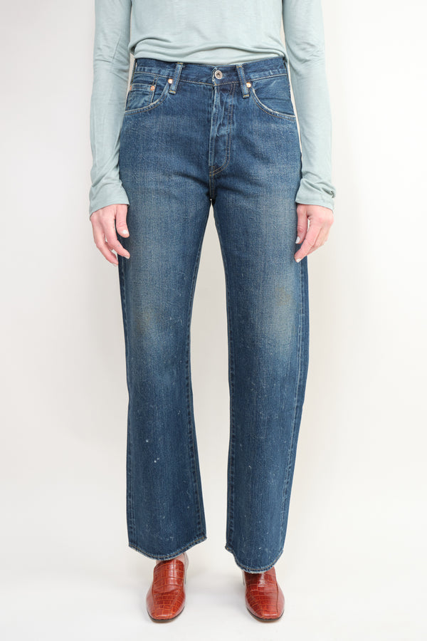 Chimala Selvedge Denim Vintage Deep Rise Fit Used Dark