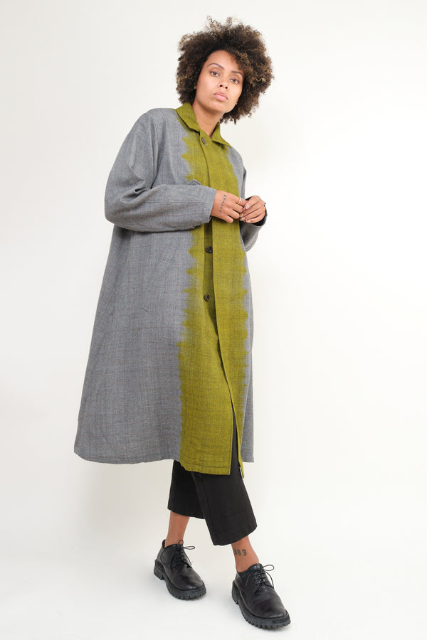 Suzusan Wool glen check coat