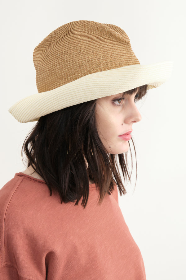 Mature Ha Boxed Hat In Mix Brown x White