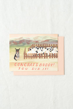 Small Adventure Sheep Dog Congrats Card