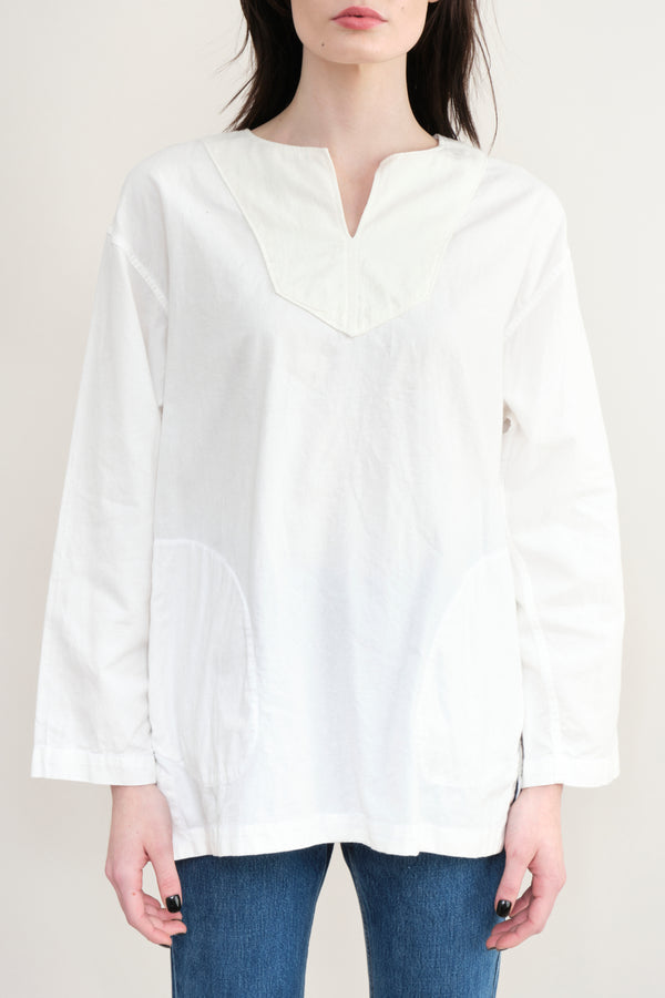 Sage De Cret Skipper Neck Shirt Off White