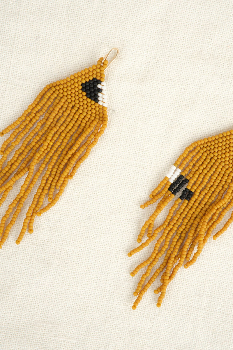 Salihah Moore Fallow Hand Beaded Earring