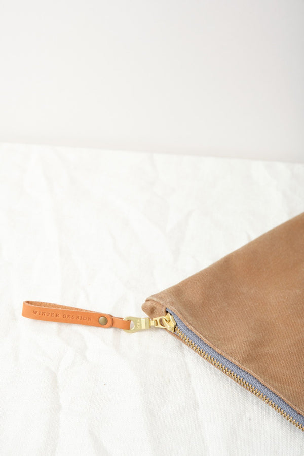 Winter Session Waxed Canvas Zip Folio