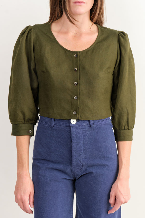 Jude Blouse In Moss