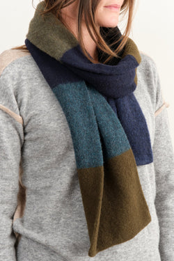 Jo Gordon Brushed Colourblock Scarf