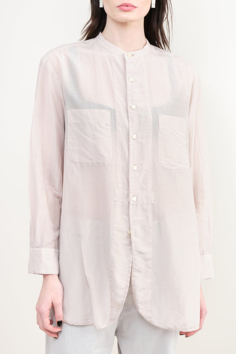 pas de calais Silk Button Down Blouse Pink