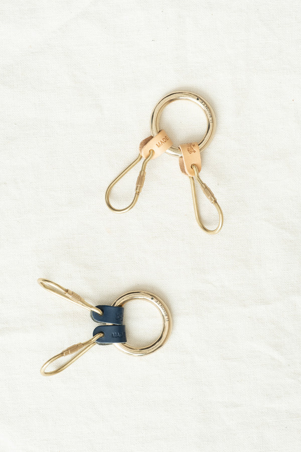 Il Bisonte Double Key Ring Leather