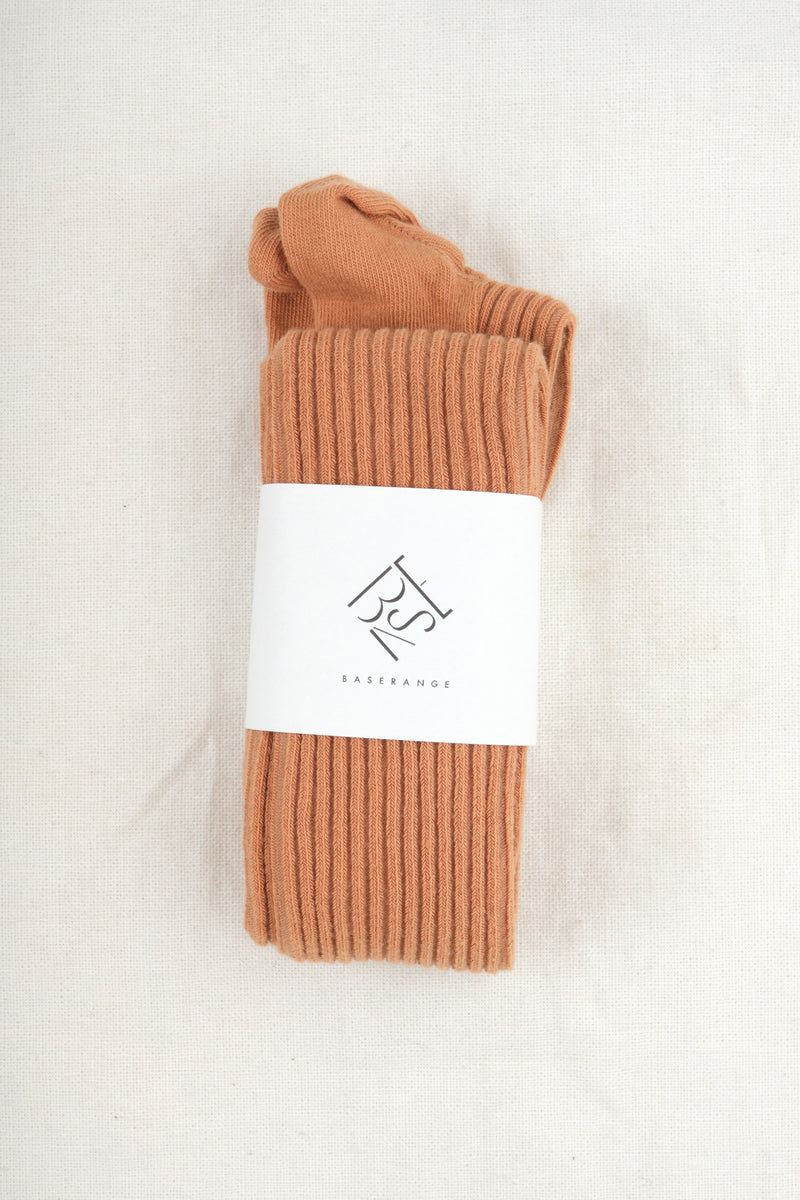 Baserange Overknee Socks Furano Brown