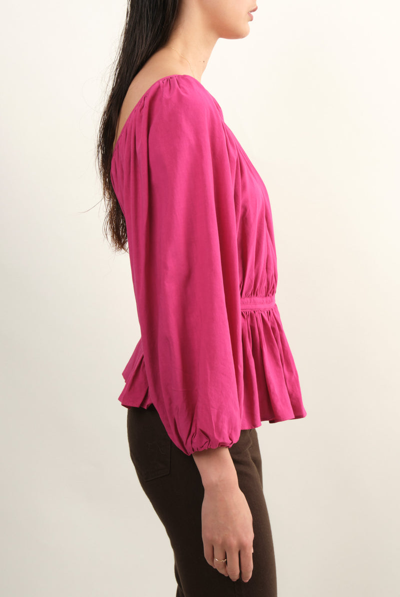 Womn's Hot Pink Blouse