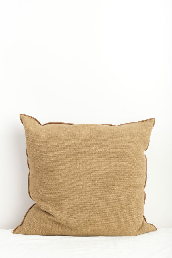 "Maison de Vacances 26 x 26"" Vice Versa Cushion In Cappuccino"
