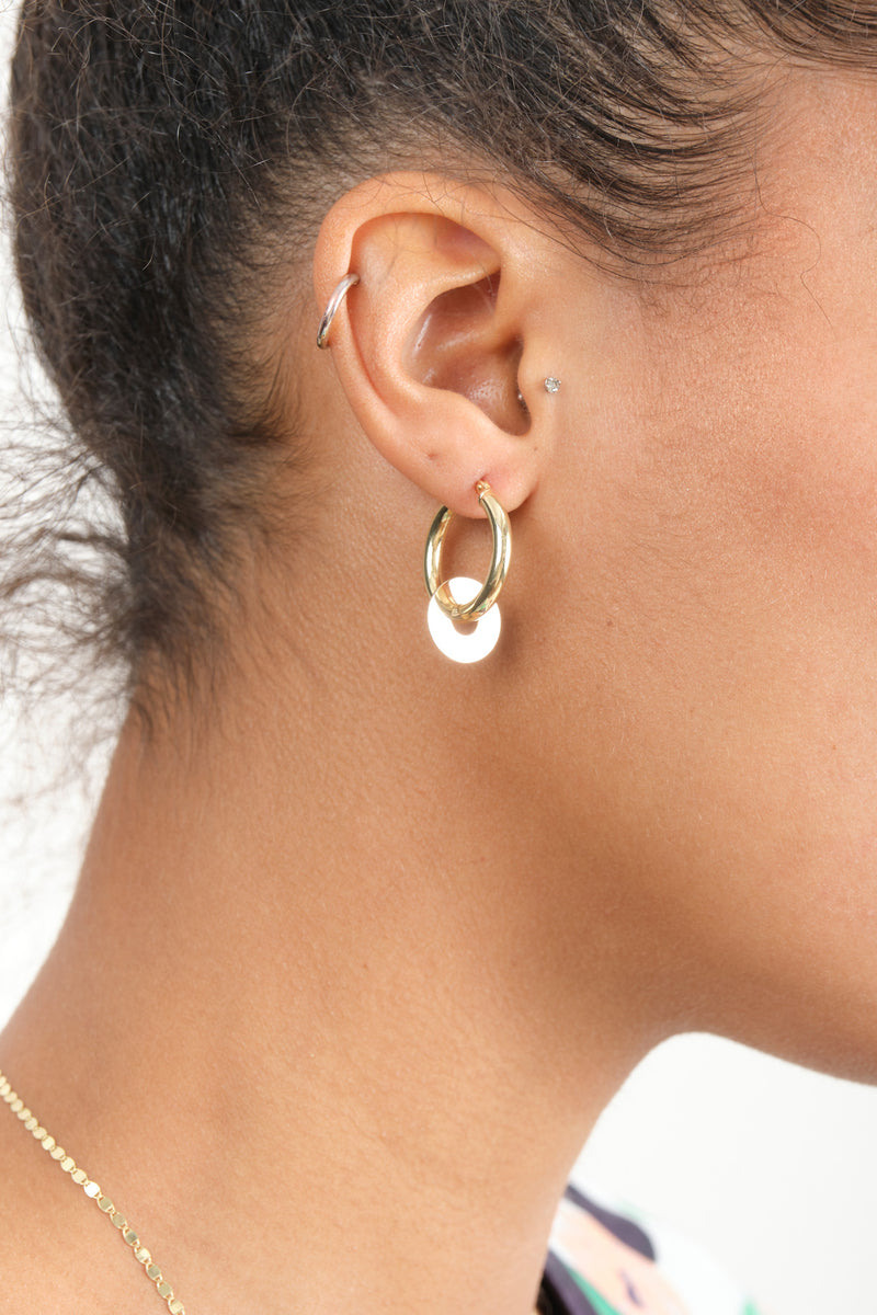Carrie Hoffman Small Gold Hoops