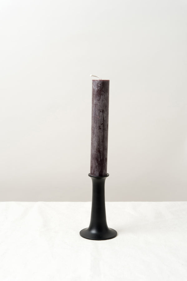 Tall Black Candle Holder