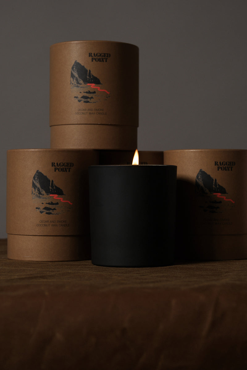 ragged point candle Cedar and hyde