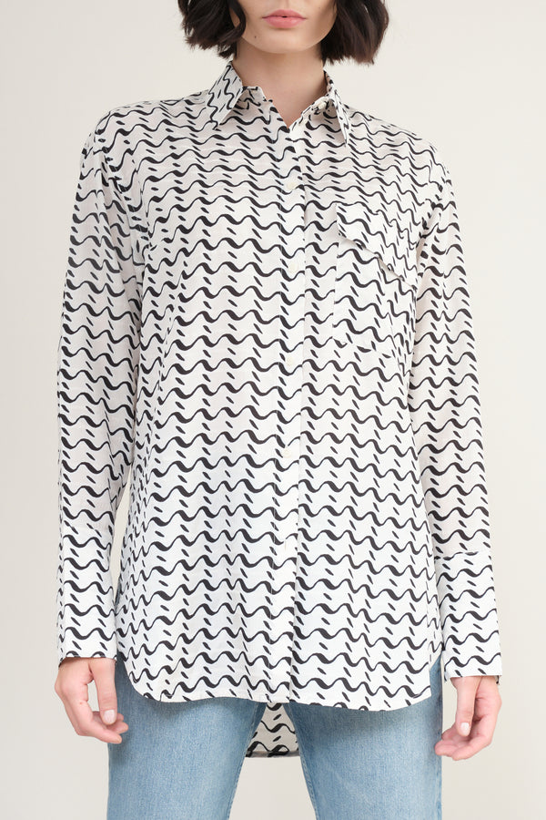 tumpet blouse in waves Christian Wijnants