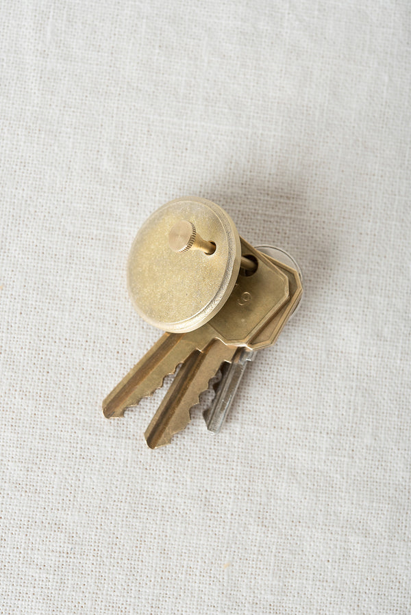 round brass key ring