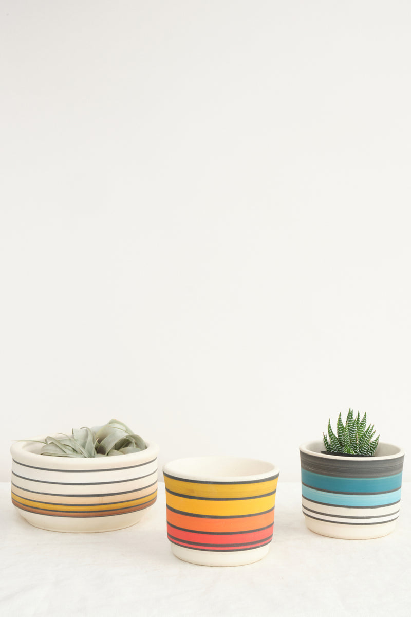 Claystreet Striped Planters