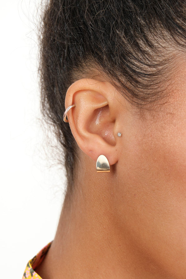 Carrie Hoffman Gold Taco Studs