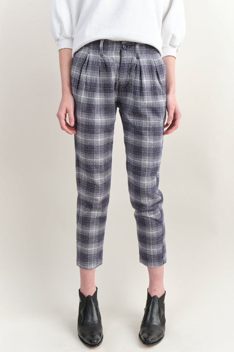 NSF Clothing Rafael Pant Navy/White Plaid