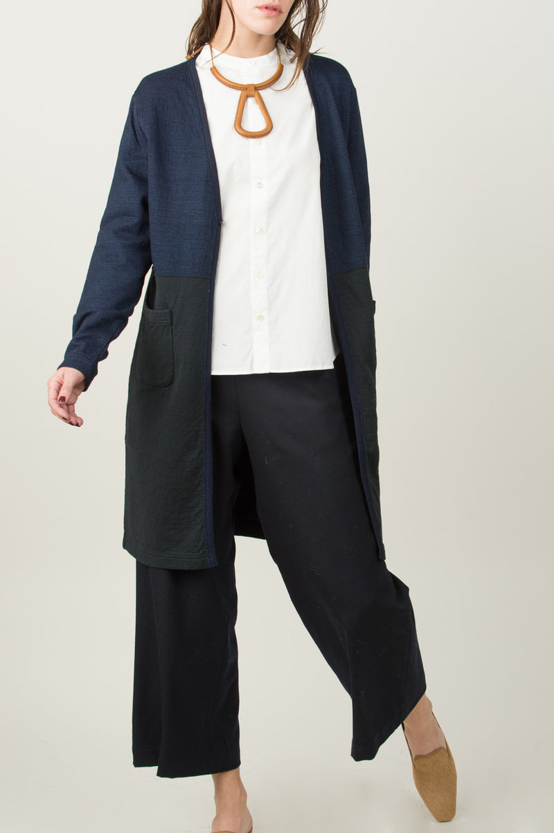 Blue Blue Broad Freedom Sleeve Stand Collar Shirt