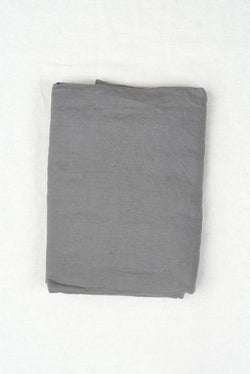 charcoal queen flat sheet in bed